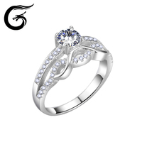 GuoLong 925 Sterling Silver Ring Braided