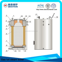 0.5 Ton/hour small working simple vertical boiler for sale