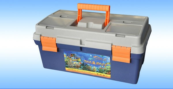 "16"" multi-function equipment hard plastic tool case"