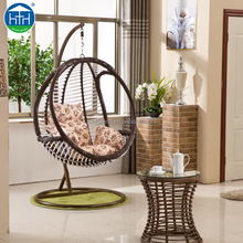 ratan outdoor furniture rattan swing hanging chair outdoor swing chair bed