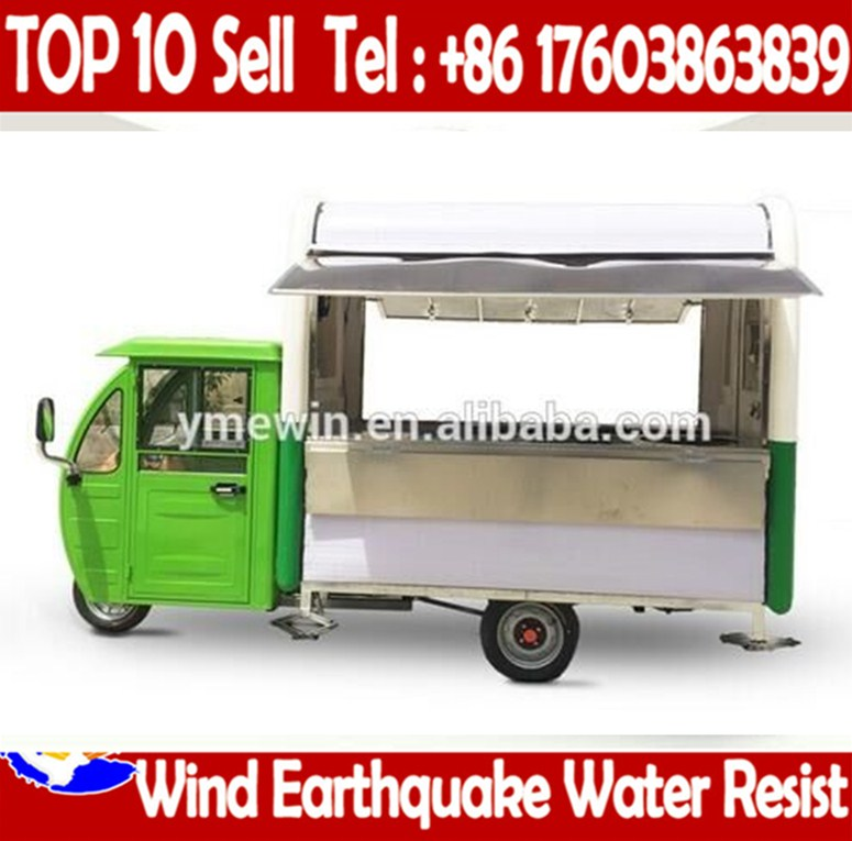 Electric Truck Mobile Fast Portable Food Carts For Sale