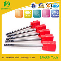 china factory outletHRC55 tungsten solid carbid long shank flat end mill cut used carbide end mill cutter end mill cutter sizes