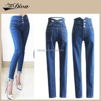 2016 top design ladies long jeans trousers fashion skinny women jeans pent high quality denim jeans