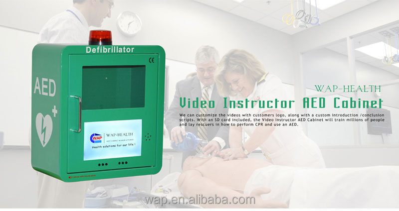 WAP-health Alarm System Smart Video Display AED Cabinet