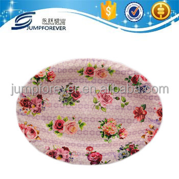 Plastic flower decor mail order lunch tray