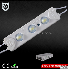 Super brightness driver LED module 1.5W Waterproof IP67 3 chips 5730 led smd module for signboard lighting decoration