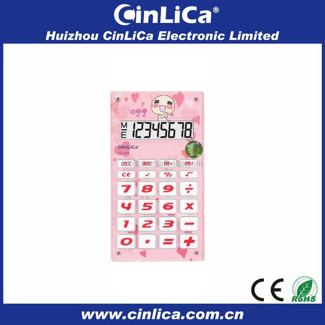 8 digit electronic cute child calculator with voice activated calculator CA-608
