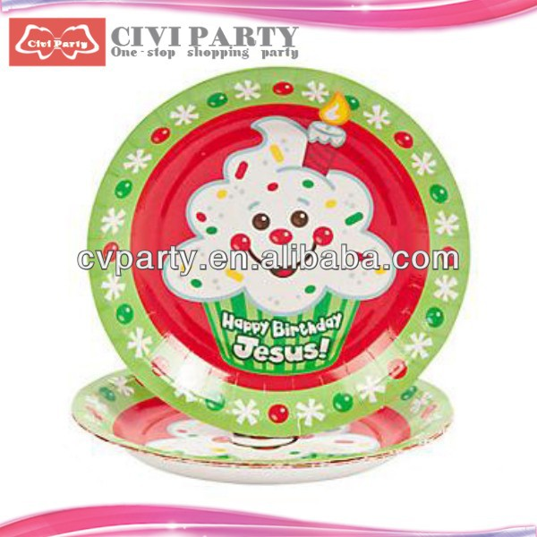 Christmas party plate,Friendly Round Paper Plate recycled agenda notebook