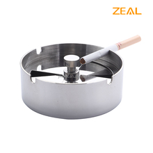Zeal Smokeless mirror finish metal standing ashtray with custom logo