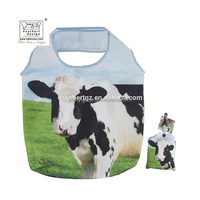 Esschert Design Farm Animal shape printed textile shopping bag