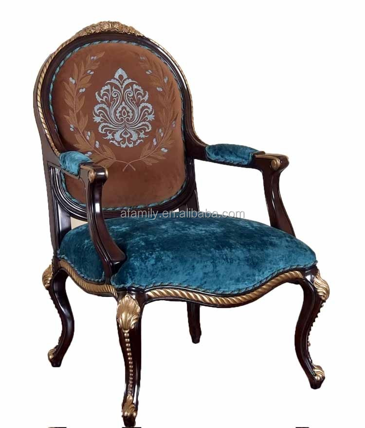 AFAMILY France Classical style solid wood single 1 seater <strong>sofa</strong>,fabric pulley wheel sofaDY177