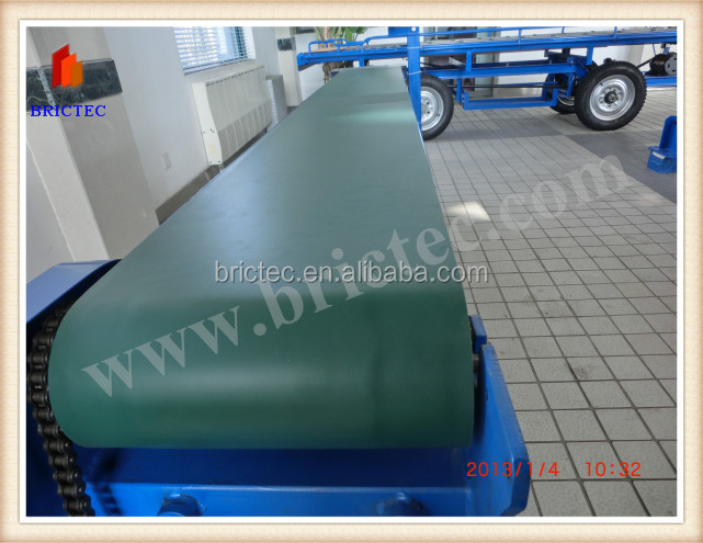 automtic green brick distribute belt conveyor on the brick production line