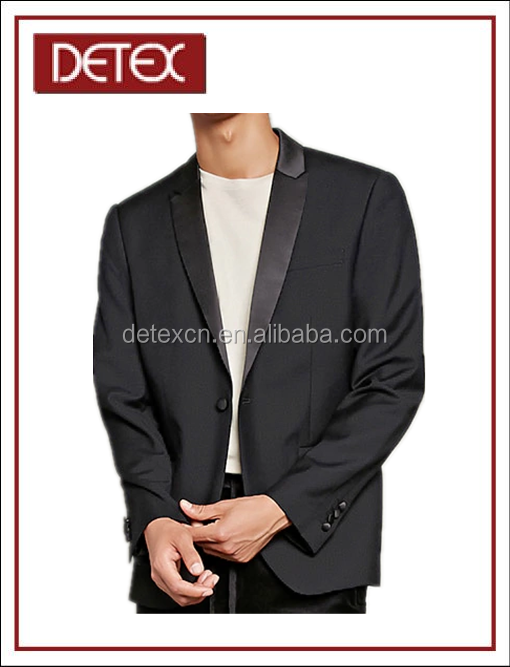 Top-Quality Classical Mens Satin Lapel Blazer