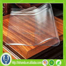 anti slip clear pvc felt desk mat