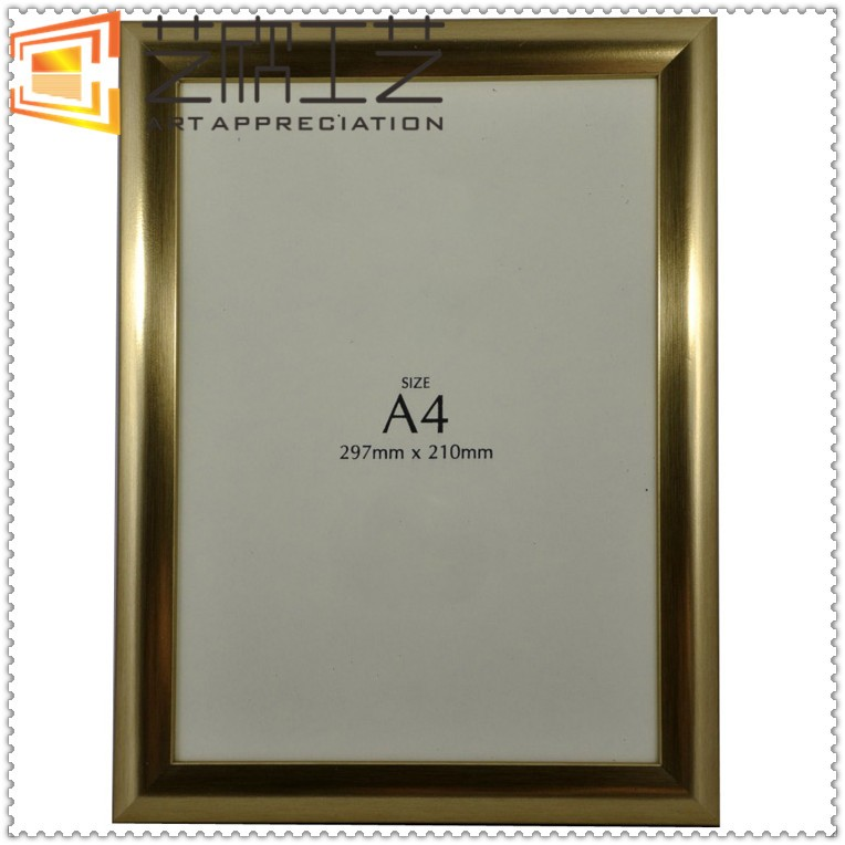Plastic Photo Frame Size A4 Gold White Color Wooden Photo Frame ...