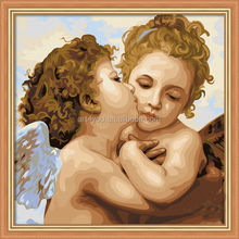 Kiss of Angel painting by numbers