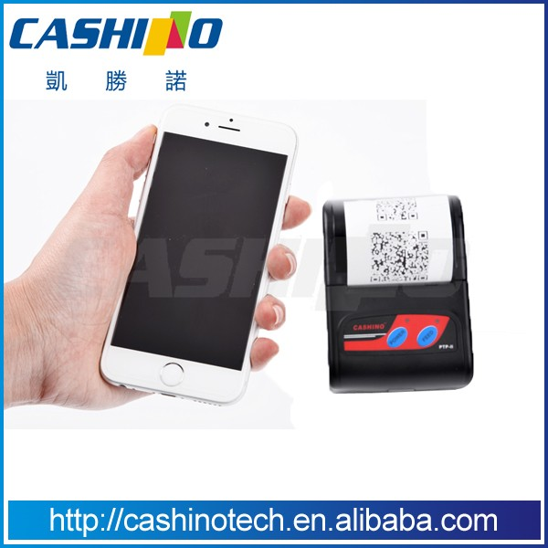 Cashino PTP-II 58mm mobile portable bluetooth thermal mini lottery printer for android tablet/ipad