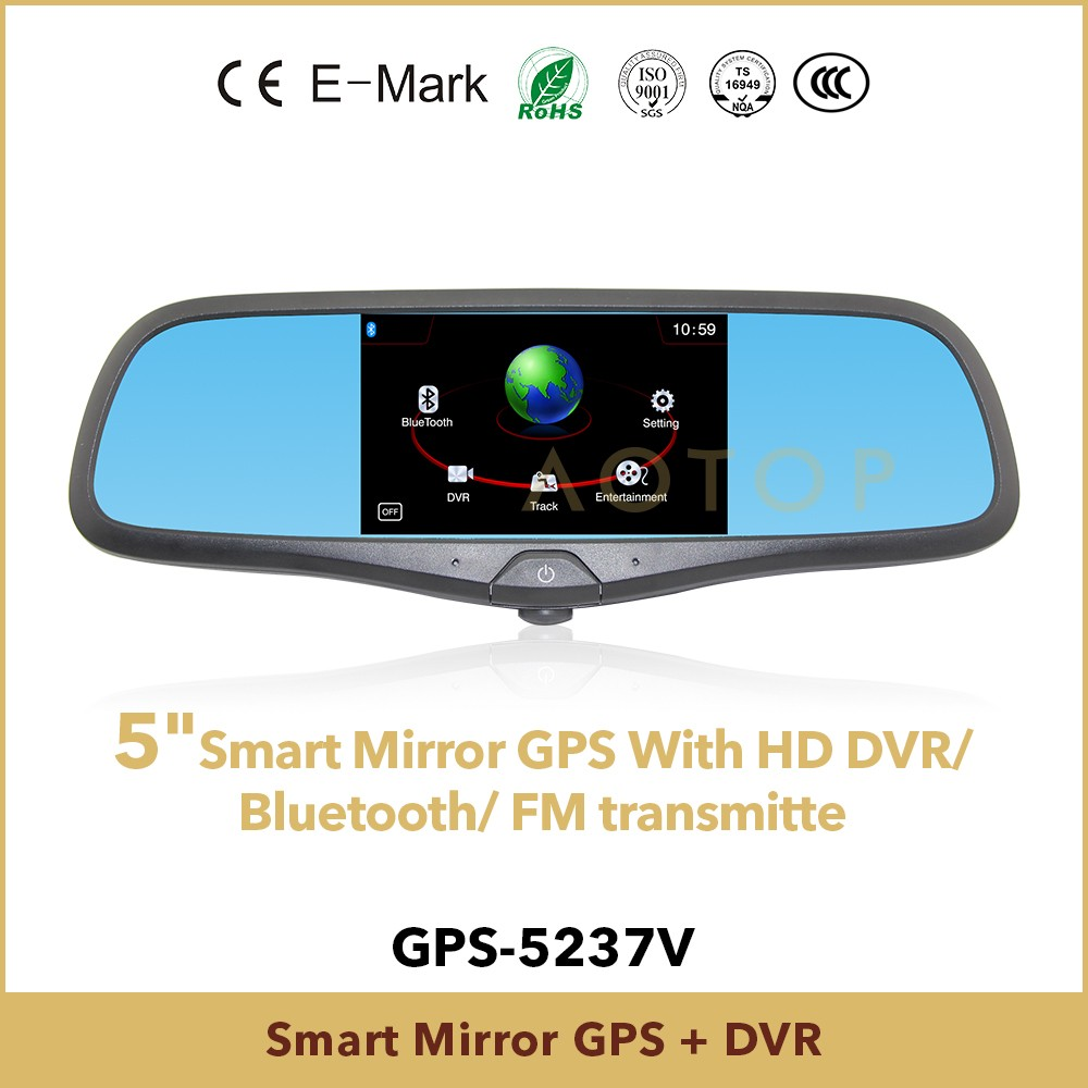 5 inch car black box video recorder gps, rear view camera for cars