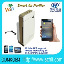 2018 Remote control it via Mobile phone APP wilress remote controller air purifier/PM2.5 refresh air detector with HEPA Filter