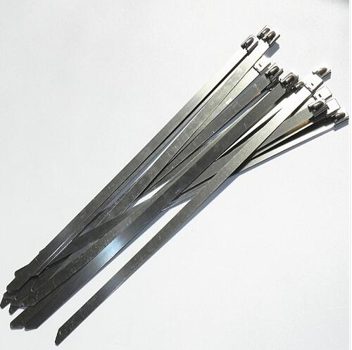 2000pcs/lot Material 304 Stainless cable tie self locking wide:7.9mm Long:500mm,shiped by <strong>Fedex</strong> or DHL