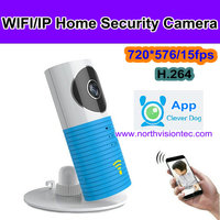 CE ROHS FCC Clever dog p2p ip camera all in one ip network camera for indoor use