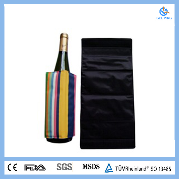 Red wine cooler, gel ice bottle cooler sleeve gel wine cooler wrap