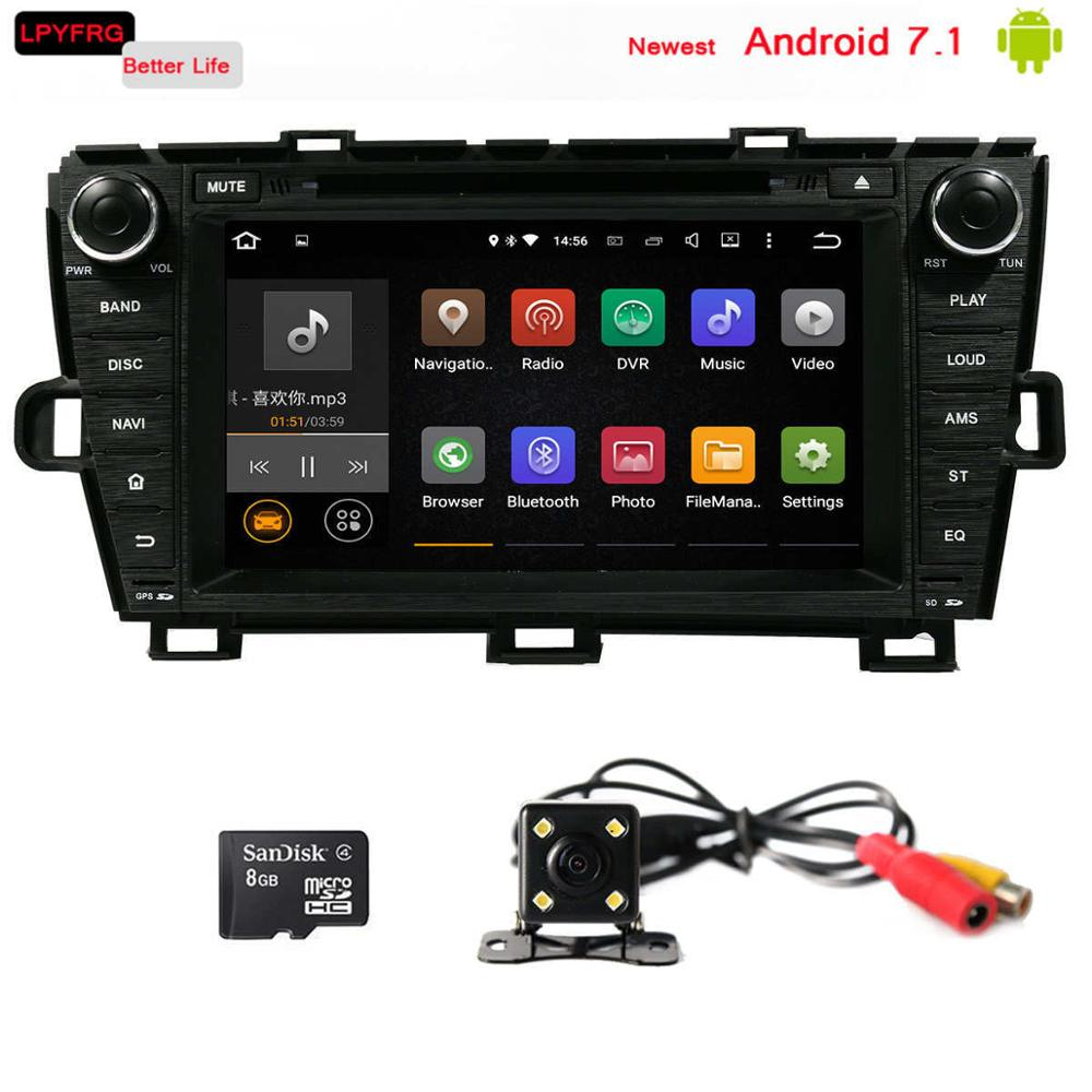 7 inch android 7.1 car radio for toyota prius 2010 2012 with gps navi support TPMS DAB+ 2GB RAM