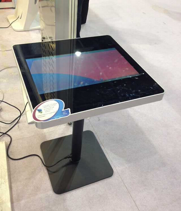 "Stylish Metal bar table with 21.5"" touch screen android"