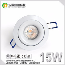 Norway led light downlight cct dimming 2000-2800K dim with ELKO