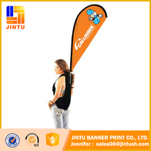Advertising Safety Flags For Bicycles Feather Backpack Banner