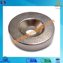 Strong N45 permanent rare earth Neodymium magnets with countersink ,pass SGS,CE report,certificated by TS16949,ISO14001