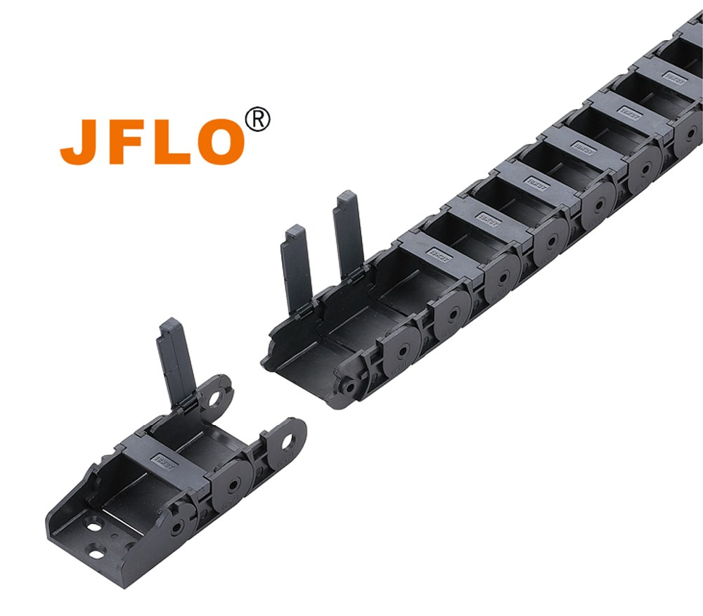 JFLO 18mm close type interior opening plastic cnc cable drag chain wire carrier