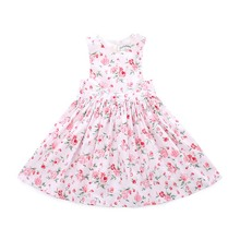 Baby <strong>Girls</strong> Spring Autumn Comfortable Flower Long <strong>Dress</strong> Floral Printed Vest Top Baby <strong>Dress</strong> OEM Pleated Chooseable Size <strong>Dress</strong>
