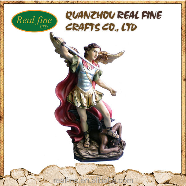 Hot sale resin crafts gold angel statue