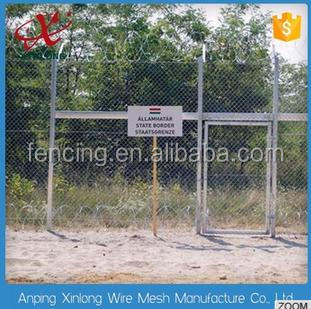 2017Portable used galvanized chain link mesh fence