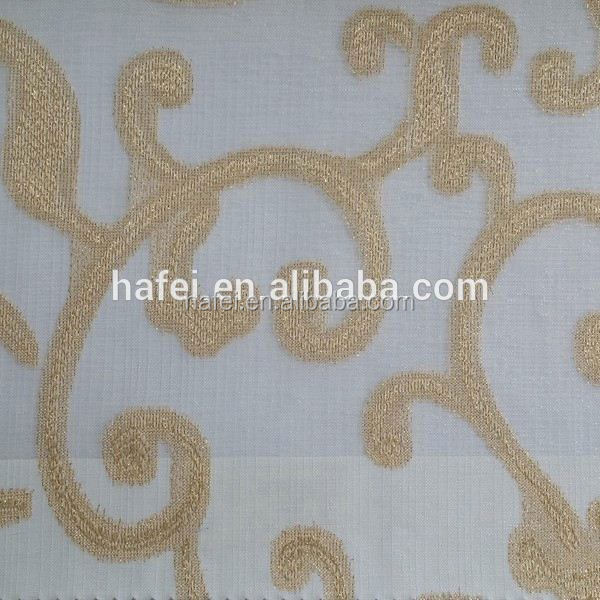 Hotel Luxury Voile Jacquard pole top curtain panel
