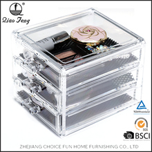 Cheap Wholesale Clear Acrylic Ring Acrylic Makeup Organizer Cube