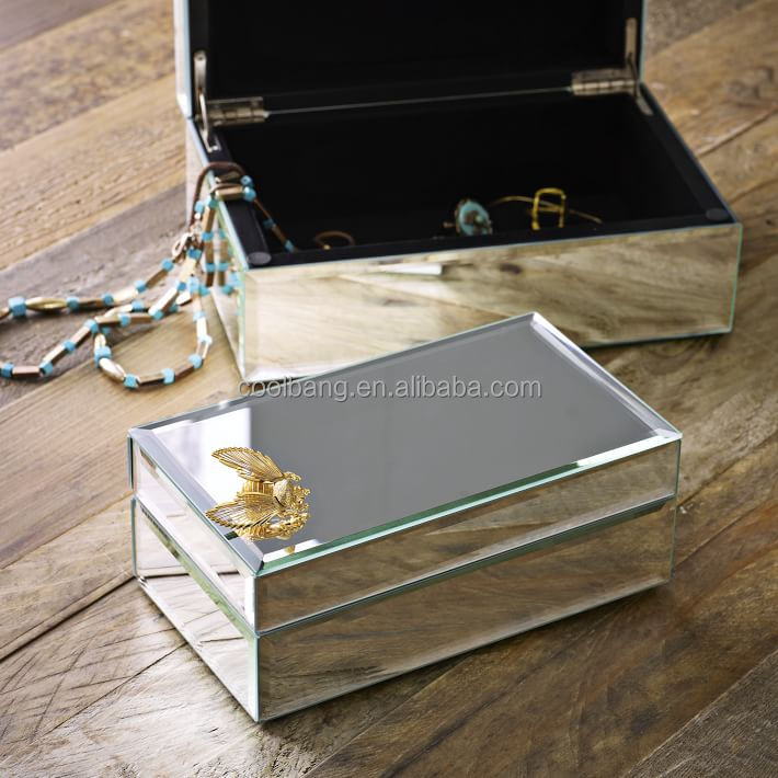 Coolbang fancy mirror box wholesale mirrored jewelry box
