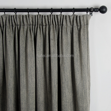 100% polyester geometric jacquard blackout curtain fabric