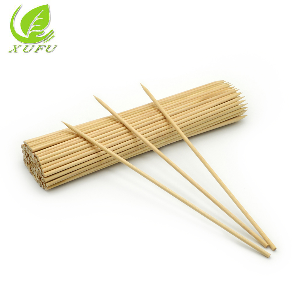 kebab skewers 5.0*220mm Wooden <strong>rotating</strong> BBQ Skewer