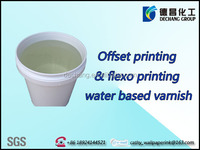Water based wear resistant slipproof pre printed varnish for offset and flexo printing