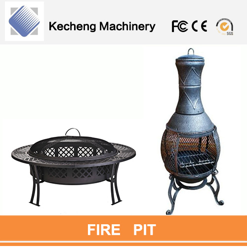 Cast iron outdoor chimney charcoal hanging fire pit