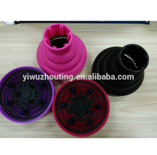 stock 2USD SELL Foldable Silicone Hair Dryer with Diffuser