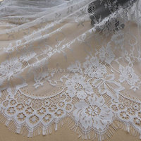 2016 white custom 5 yards high quality mesh tulle african softextile french lace fabric