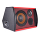 Professional Factory direct 8'' 89dB SPL DC14V subwoofer box design car red subwoofer box with tweeter