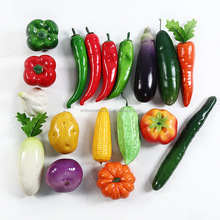 Hot sell colorful decoration plastic toy fake fruit and vegetables