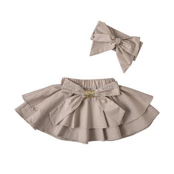 2017 100%cotton baby girl's mini skirts,lovely mini skirt for baby girl