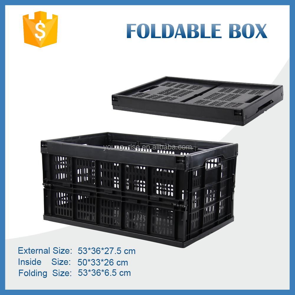 Wholesale 20kg PP mesh moving crate, plastic vegetable packaging box