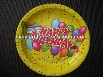 Birthday Party Paper Plates