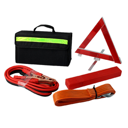 Toprank Roadside Assistance Kit 4 pcs Auto Road Safety Repaire Tool Bag Portable Roadside Car Emergency Kit With Booster Cable